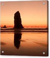 Pastel Evening On The Oregon Coast Acrylic Print