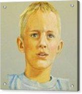 Pastel Portrait Of Aaron Acrylic Print