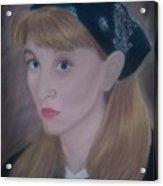 Pastel Self Portrait Acrylic Print
