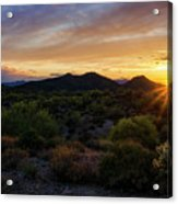 Pastel Sonoran Skies  Acrylic Print
