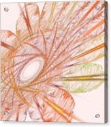 Pastel Spiral Flower Acrylic Print