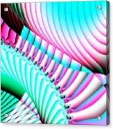 Pastel Spiral Staircase Fractal Acrylic Print