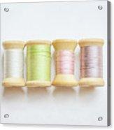 Pastel Spools Of Vintage Thread Acrylic Print