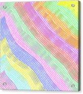Pastel Stripes Angled Acrylic Print