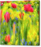 Pastel Summer Flowers  Acrylic Print