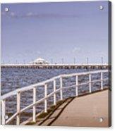 Pastel Tone Sea Pier Landscape Acrylic Print