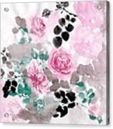 Pastel Water-healing Roses -24 Acrylic Print