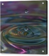 Pastel Water Sculpture 7 Acrylic Print