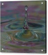 Pastel Water Sculpture 8 Acrylic Print
