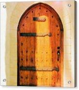 Pastel Wooden Door Acrylic Print