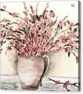 Pastels In Clay Pot Acrylic Print