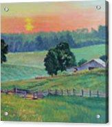 Pastoral Sunset Acrylic Print