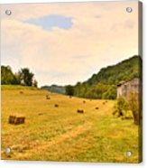 Pastorial Framland In Kentucky Acrylic Print