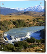 Patagonia Landscape Of Torres Del Paine National Park In Chile Acrylic Print