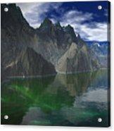 Patagonia Mountain Reflection Acrylic Print