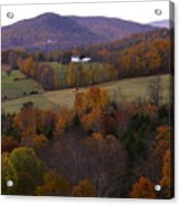 Patch Worked Mountains In Vermont Acrylic Print