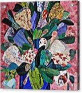 Patchwork Bouquet Acrylic Print