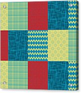 Patchwork Patterns - Muted Primary Acrylic Print