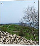 Patchwork Quilt Lough Corrib Maam Ireland Acrylic Print