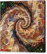 Patchwork Spiral Acrylic Print