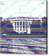 Patchwork White House Acrylic Print