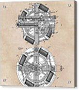 patent art Edison 1888 Phonograph Acrylic Print