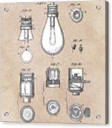 patent art Edison 1890 Lamp base Acrylic Print