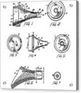 Patent Drawing For The 1962 Illuminating Means For Medical Instruments By W. C. More Etal Acrylic Print