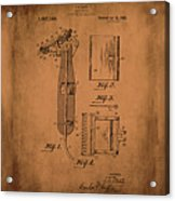 Patent  Razor Art Barry Toles Johansan Acrylic Print