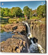 Paterson Water Falls Black And White Acrylic Print