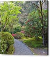 Path At Japanese Garden Acrylic Print