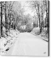 Path In The Snow Acrylic Print