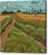 Path Through A Wheat Fields Acrylic Print