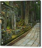 Path Through Koyasan Okunoin Cemetery, Japan Acrylic Print