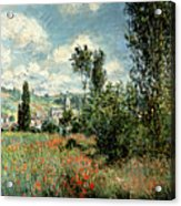 Path Through The Poppies Acrylic Print by Claude Monet