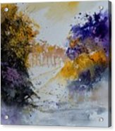 Path To ... Watercolor  Acrylic Print