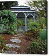 Path To The Gazebo Acrylic Print