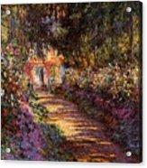 Pathway In Monet's Garden Acrylic Print