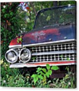 Patina On Route 66 - Square Acrylic Print