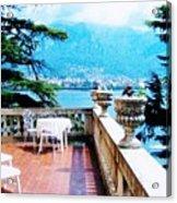 Patio In Italy Acrylic Print