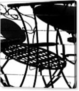 Patio Shadows 1 Acrylic Print