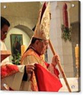 Patriarch Fouad Twal At Christmas Mass Acrylic Print