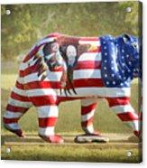Patriot Bear Acrylic Print