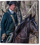Patriot On Horse At Tower Park Battle Acrylic Print