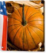 Patriotic American Pumpkin Acrylic Print