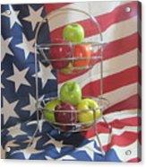Patriotic Apples Acrylic Print