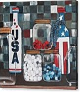 Patriotic Bottles And Jars Acrylic Print