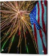 Patriotic Fireworks Acrylic Print