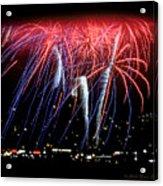Patriotic Fireworks S F Bay Acrylic Print
