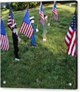 Patriotic Lawn Ornaments Represent Acrylic Print by Stephen St. John